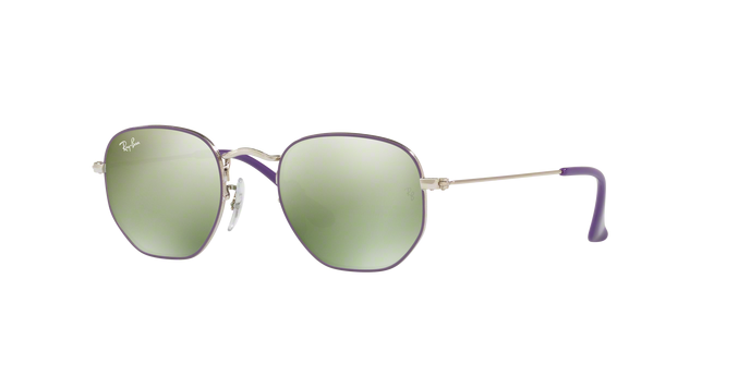 Ray Ban RJ9541SN 262/30 SILVER TOP VIOLET Green Flash Silver