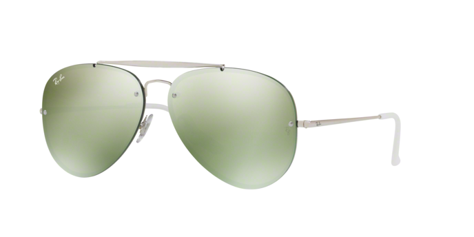 Ray Ban Aviator RB3584N 905130 SILVER Dark Green Mirror Silver