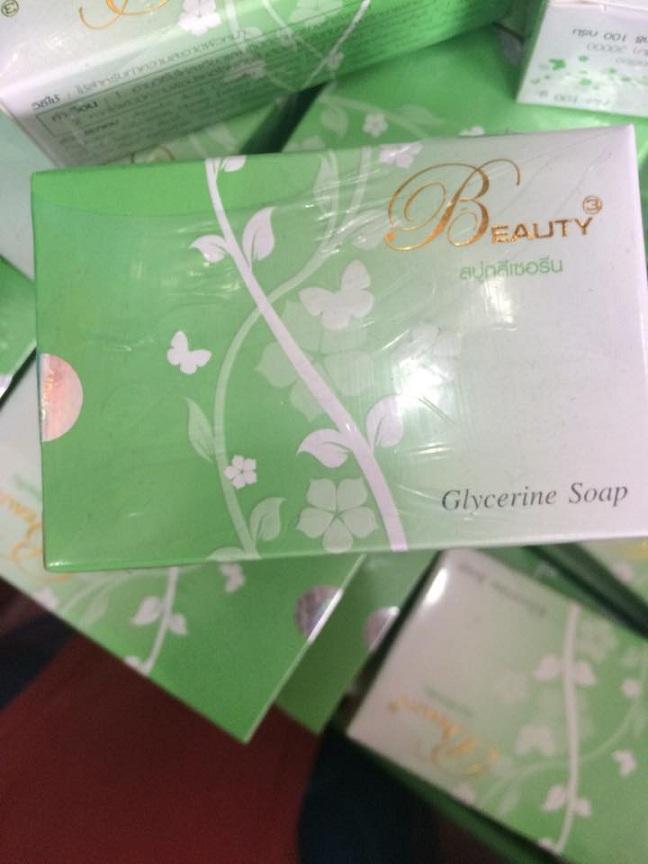 สบู่กลีเซอรีน (Glvcerine Soap) บิวตี้ทรี สบู่คลอโรฟิลล์ ชาเขียว