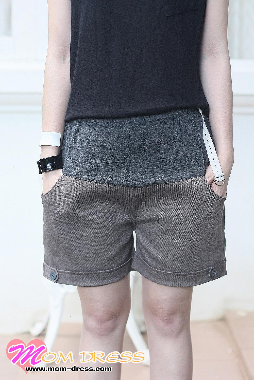 กางเกงคลุมท้อง ปรับระดับ ขาสั้น สีเทา โอวัลติน