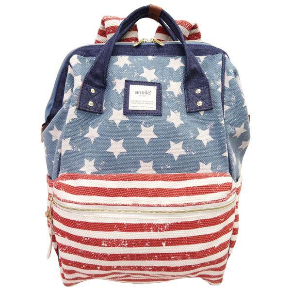 กระเป๋าเป้ Anello Canvas Limited USA (Standard) ผ้าแคนวาส ลาย USA