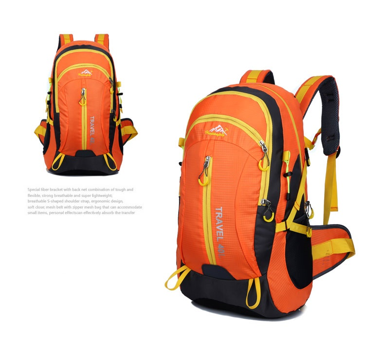 Outdoor mountaineering waterproof 40 ลิตร (สีส้ม)