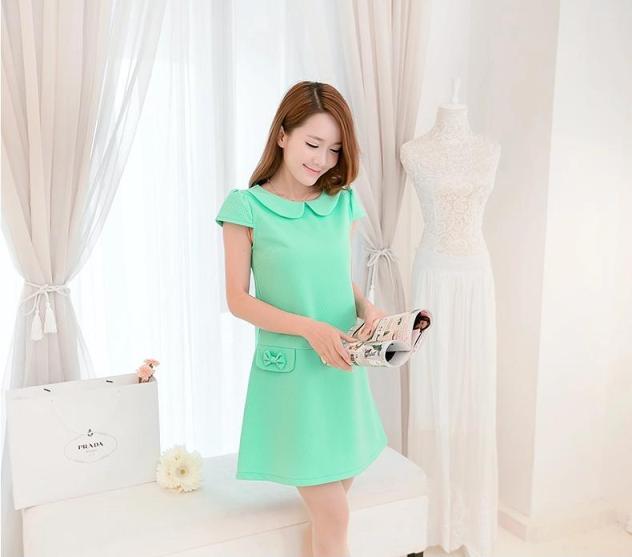 [พรีออเดอร์] ชุดเดรสผู้หญิงแฟชั่นเกาหลีใหม่ แขนสั้น แบบเก๋ เท่ห์ - [Preorder] New Korean Fashion Short-sleeved Dress