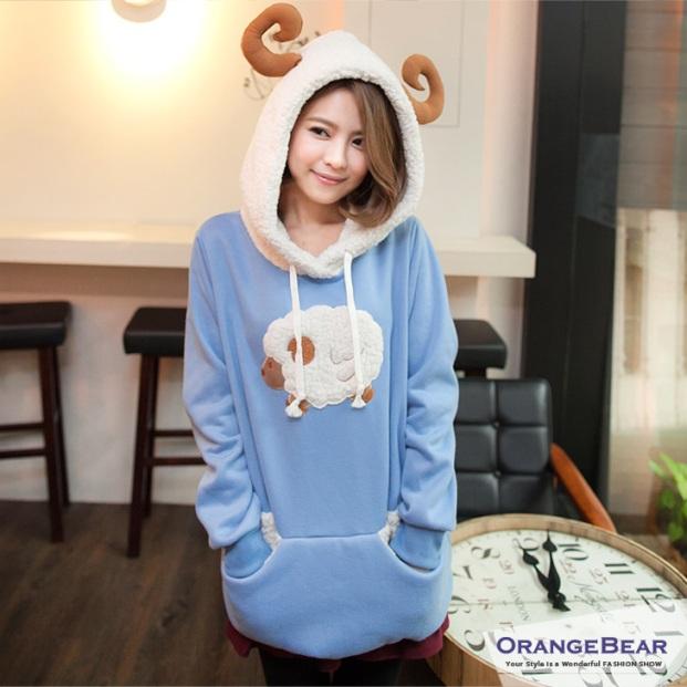 **พรีออเดอร์** เสื้อกันหนาวแฟชั่นไต้หวันไซต์ใหญ่ ยี่ห้อ Orange Bear มีฮู๊ด แขนยาว สำหรับสาววัยทีน สุดชีค / **Preorder** Large Size Women Taiwan Hitz Brand Orange Bear Long-Sleeved with Hood Jacket