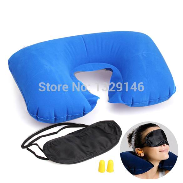 Neck Cushion Pillow + Eye Patch + Earplug Comfortable