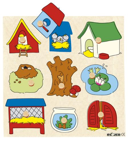 HIDDEN SURPRISE PUZZLES - ปริศนาภาพซ่อน (ANIMALS HOMES - บ้านของสัตว์ต่างๆ)