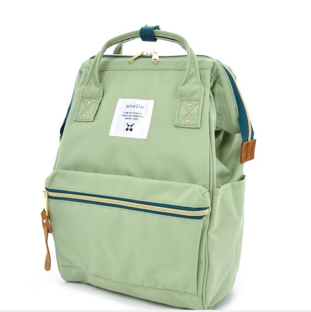 กระเป๋าเป้ Anello canvas lightgreen (Mini)