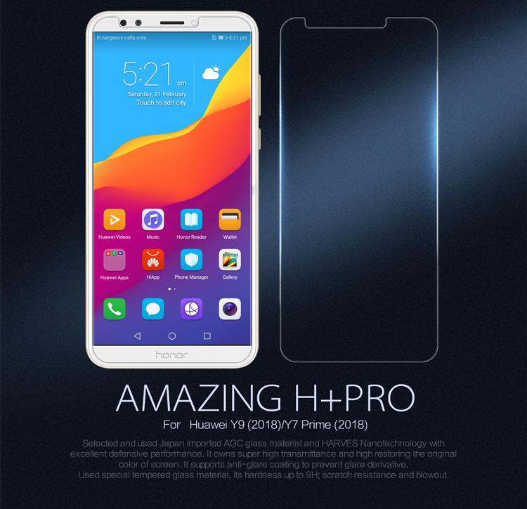 ฟิล์มกระจกนิรภัย Huawei Y9 (2018)