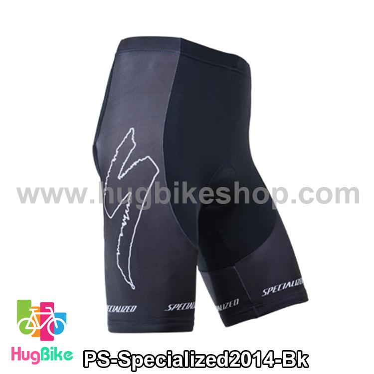 กางเกงจักรยานขาสั้นทีม Specialized 14 สีดำ