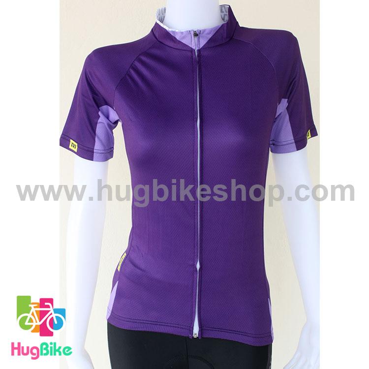 เสื้อจักรยานผู้หญิงแขนสั้น Mavic 16 (04) สีม่วง
