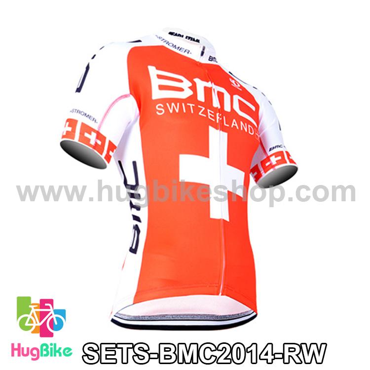 เสื้อจักรยานแขนสั้นทีม BMC 2014 สีแดงขาว สั่งจอง (Pre-order)