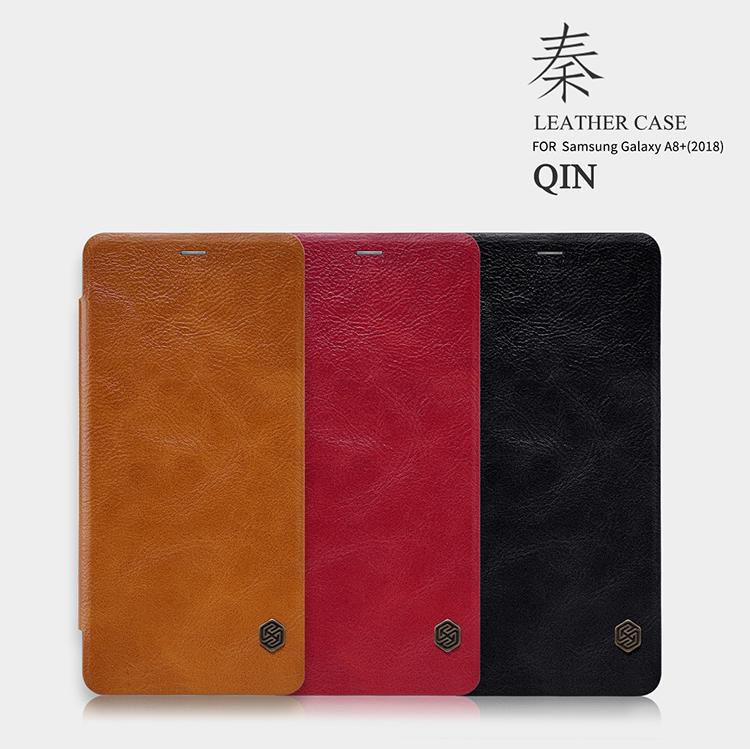 เคสมือถือ Samsung Galaxy A8+ (2018) รุ่น Qin Leather Case