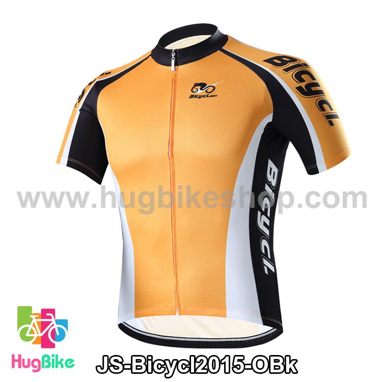 เสื้อจักรยานแขนสั้นทีม Bicycl 2015 สีส้มดำ สั่งจอง (Pre-order)