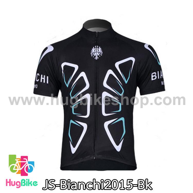 เสื้อจักรยานแขนสั้นทีม Bianchi 2015 สีดำ สั่งจอง (Pre-order)
