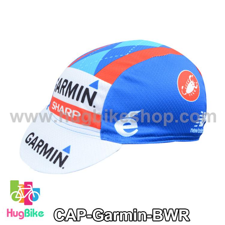 หมวกแก๊บ Garmin 14 (01) สีน้ำเงินขาวแดง
