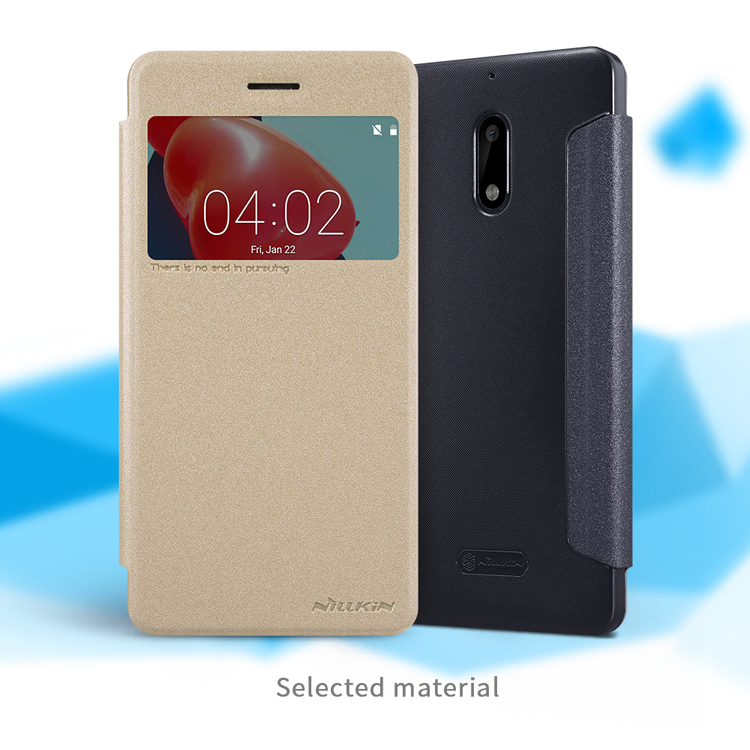เคสมือถือ Nokia 6 รุ่น Sparkle Leather Case