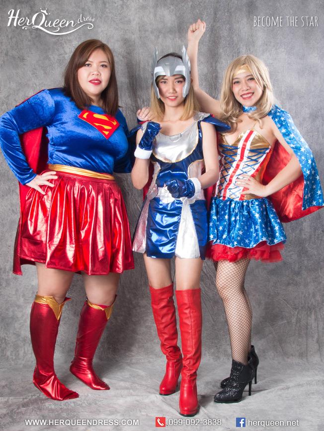 เช่าชุดแฟนซี (มีไซส์ใหญ่ถึงอก 45 นิ้ว) &#x2665 ชุดแฟนซี ซุปเปอร์ฮีโร่ Superhero