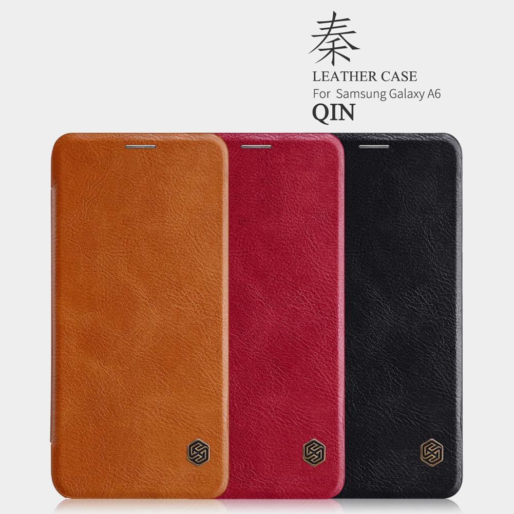 เคสมือถือ Samsung Galaxy A6 รุ่น Qin Leather Case