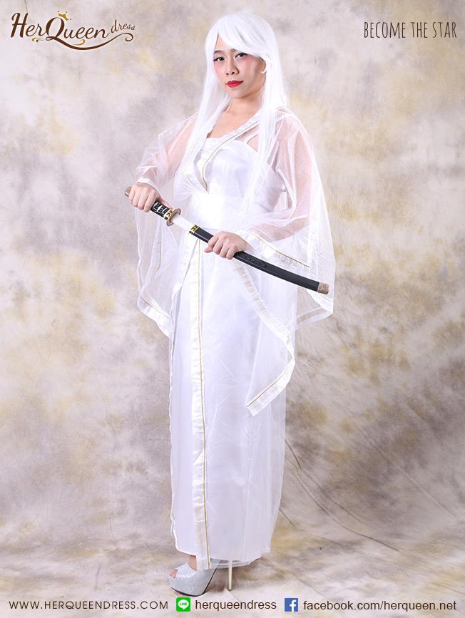 เช่าแฟนซี &#x2665 ชุดแฟนซี ชุดนางพญางูขาว พร้อมวิก