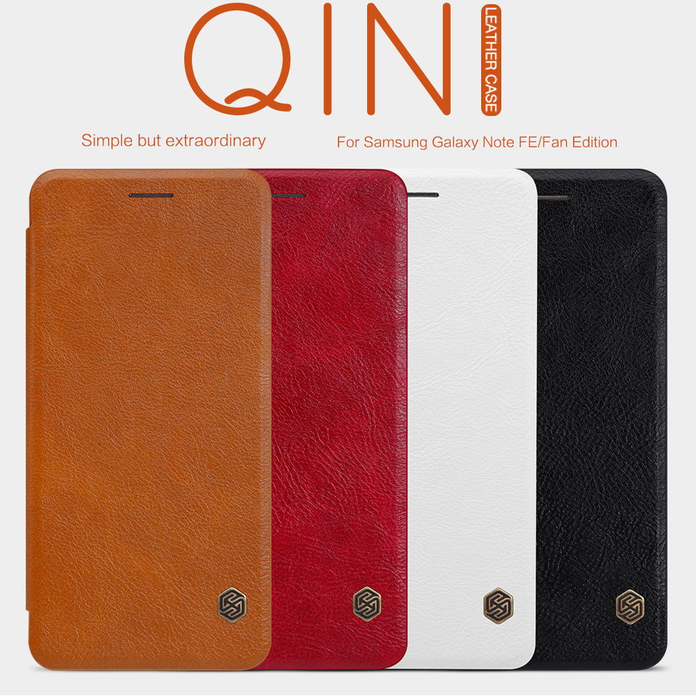 เคสมือถือ Samsung Galaxy Note FE (Fan Edition) รุ่น Qin Leather Case