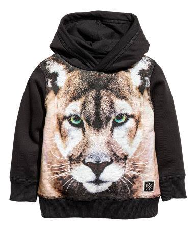 H&M : เสื้อแขนยาวกันหนาวมีฮูด พิมพ์ลายเสือ (งานช้อป) size : 2-4y / 6-8y