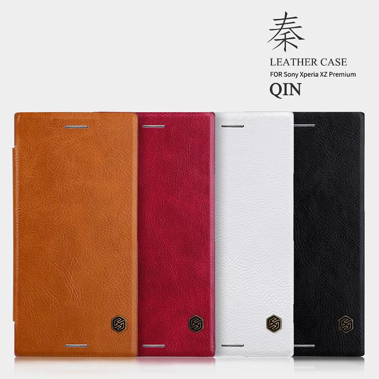 เคสมือถือ Sony Xperia XZ Premium รุ่น Qin Leather Case