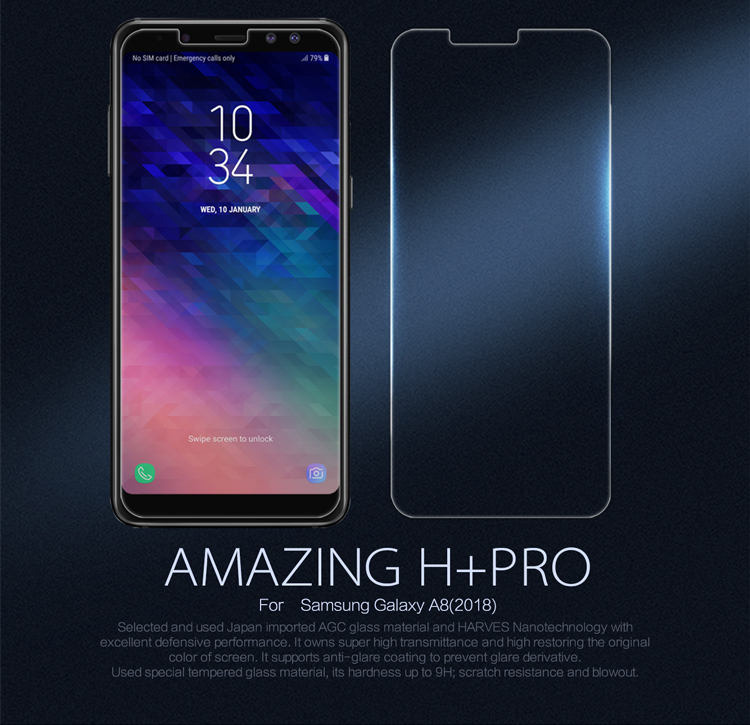 ฟิล์มกระจกนิรภัย Samsung Galaxy A8 (2018)