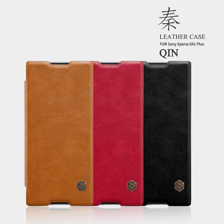 เคสมือถือ Sony Xperia XA1 Plus รุ่น Qin Leather Case