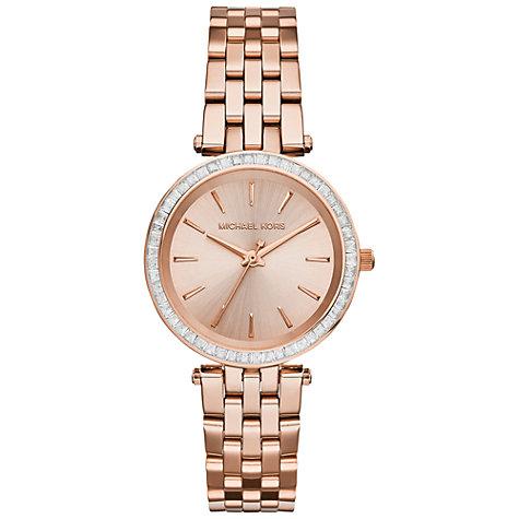 c24348b125ad นาฬิกาข้อมือ Michael Kors MK3366 Michael Kors Mini Darci Rose Gold Tone  Dial Steel Ladies Watch