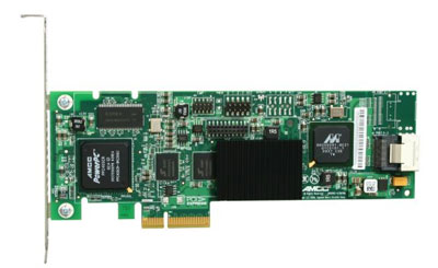 3Ware : 9650SE-4LPML PCI Express Lanes: 4 SATA II Controller Card RAID Levels 0, 1, 5, 10, Single Disk, JBOD, KIT