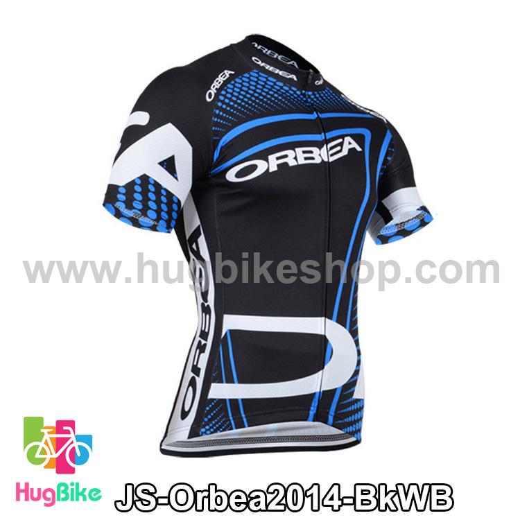 เสื้อจักรยานแขนสั้นทีม Orbea 2014 สีดำขาวน้ำเงิน สั่งจอง (Pre-order)