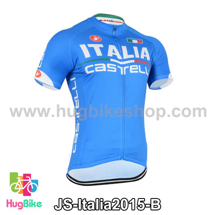 เสื้อจักรยานแขนสั้นทีม Italia 2015 สีฟ้า สั่งจอง (Pre-order)