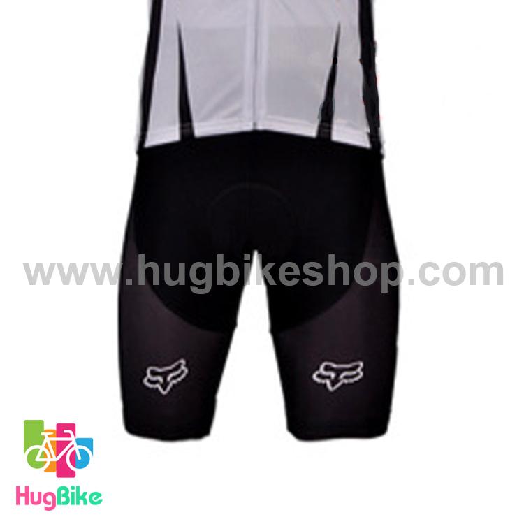 กางเกงจักรยานขาสั้นทีม Fox 15 (01) สีดำ