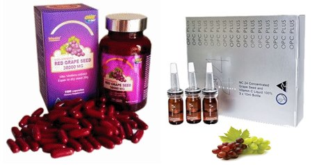 biosis Red Grape Seed 38,000 mg 1 ปุก +NC24 Grape Seed serum (With Vitamin C) 1ขวด