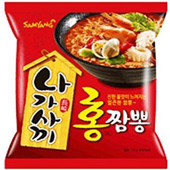 พร้อมส่ง ** Samyang Nagasaki Champong Ramen RED ราเม็งนางาซากิรสซีฟู้ด สูตรเผ็ด 115 กรัม