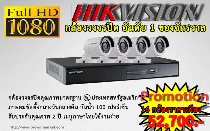 Promotion HIKVISION Set 16CH (Turbo HD)