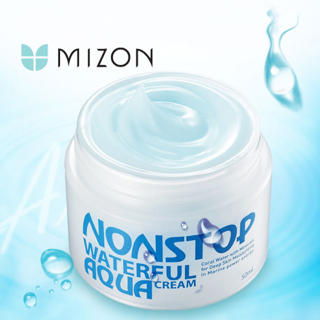 ++พร้อมส่ง++Mizon Nonstop Waterful Aqua Cream 50ml ครีมบำรุงเพิ่มความชุ่มชื้น ต่อต้านริ้วรอย มีไวท์เทนนิ่ง ให้ผิวขาว สุขภาพดี