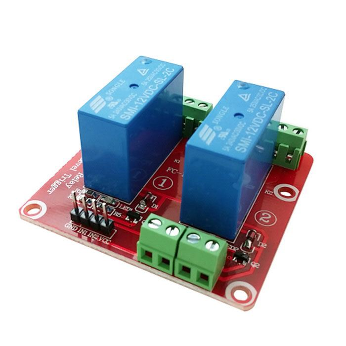 2-Channel 12V High Level Dual Power Relay Module