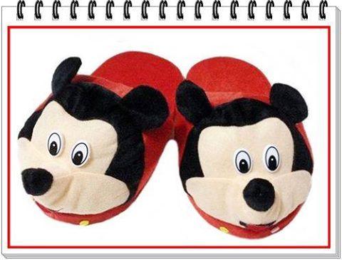 รองเท้าใส่ในบ้านOffice Mickey Mouse(รหัส 09) นุ่มๆ อุ่นๆเท้า น่ารักมากๆค่ะ (แบบหน้ายื่น) ขนาดfree size รองเท้าใส่ในบ้าน ส่งฟรี ems