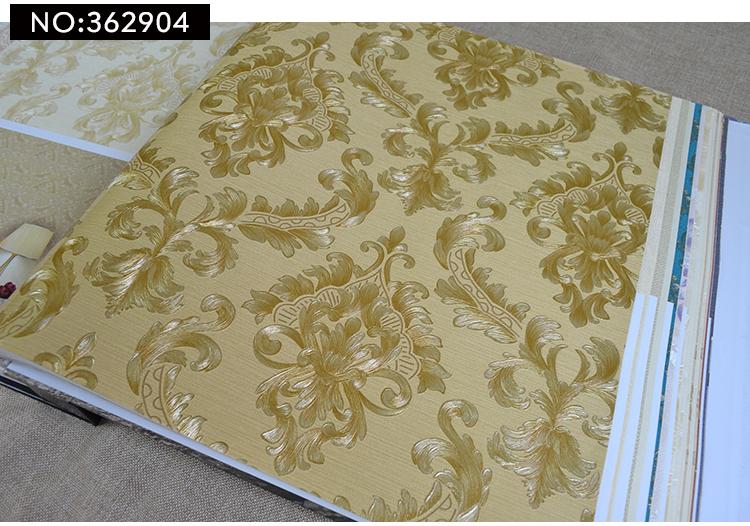 wallpaper ติดผนัง ลายหลุยส์ สีทอง