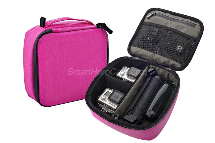 กระเป๋ากล้อง ยี่ห้อ TMC Sport ไซส์ M ( 22 x 20 x 7 cm ) - [ชมพู]