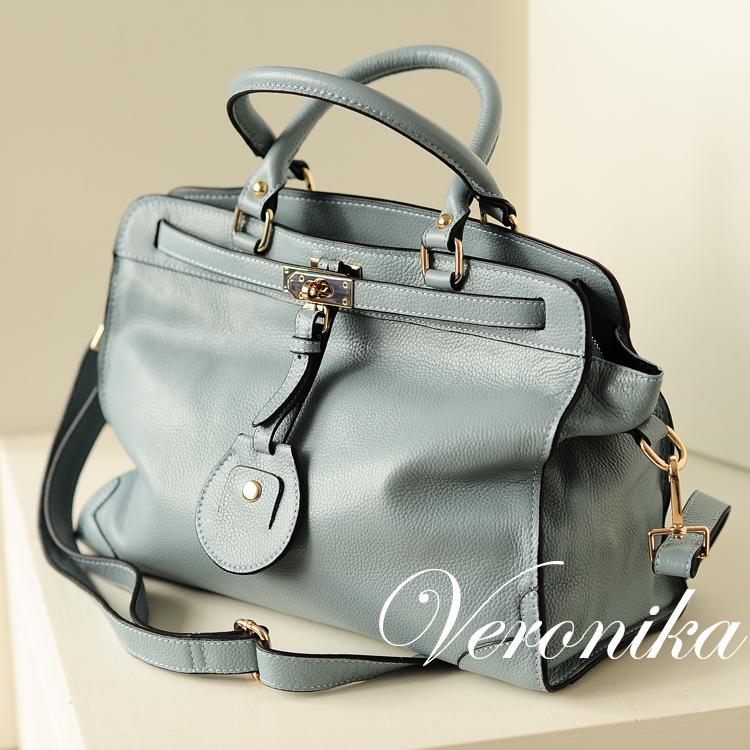 กระเป๋าหนังแท้ Blueblack Rio (ฟ้า)