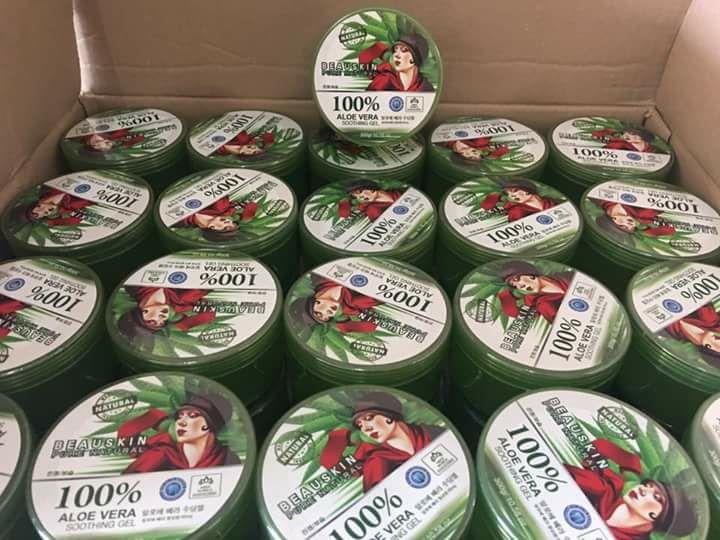 Beauskin Pure Natural 100% Aloe Vera Soothing Gel บิวสกิน เจลว่านหางจระเข้ 100%