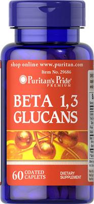 เพิ่มภูมิต้านทาน Puritan's Pride Beta Glucans 200 mg ขนาด 60 Tablets