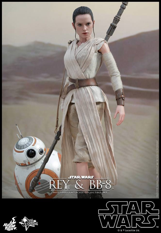 Hot Toys MMS337 STAR WARS: THE FORCE AWAKENS - REY AND BB-8