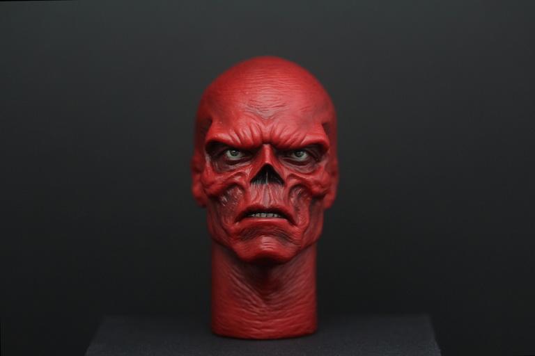 Carve Art CA011A, B - Red Skull headsculpt