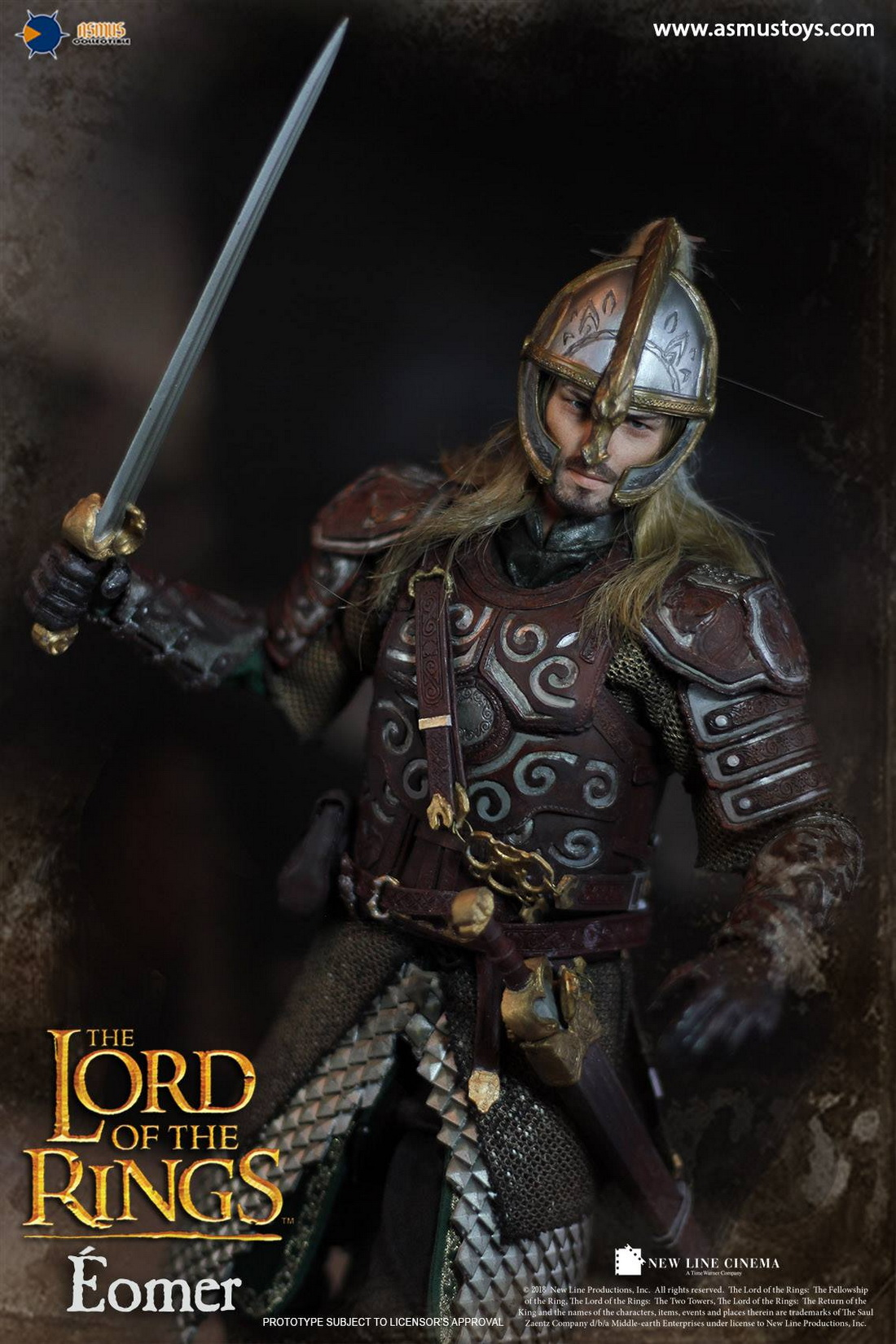 """Asmus Toys LOTR011 1//6 The Lord of the Rings Eomer 12/"""" Action Figure Stand Model"""