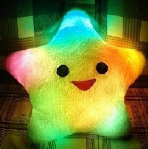 หมอนเรืองแสง หมอนมีไฟรูปดาว 5 แฉก กระพริบสลับสี