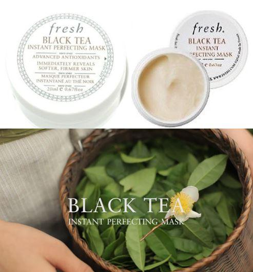 **พร้อมส่ง**Fresh Black Tea Instant Perfecting Mask ขนาดทดลอง 20ml. มาส์กชาดำ ที่ขึ้นชื่อว่ามันเป็นยาอายุวัฒนะ ให้ผิวแน่นกระชับ เนียนนุ่มอ่อนเยาว์ทันทีหลังจากใช้ ช่วยกระตุ้นการทำงานของเซลล์ผิว คืนความเนียนนุ่มชุ่มชื่น ปกป้องจากริ้วรอยแห่งวัย พร้อมปรับผิวห