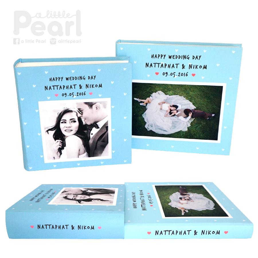 อัลบั้ม 100 รูป (5x7 นิ้ว) Square Frame w/ Pattern - สั่งทำใส่รูปถ่าย